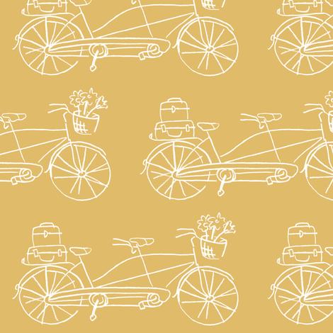 Vintage Traveler - Dijon fabric by pattysloniger on Spoonflower - custom fabric