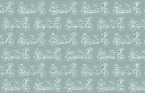 Vintage Traveler - Seafoam fabric by pattysloniger on Spoonflower - custom fabric