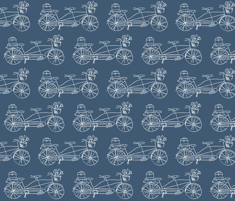 Vintage Traveler - Navy fabric by pattysloniger on Spoonflower - custom fabric