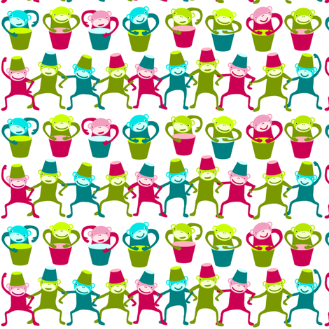SteffFabrics Monkeys 01 fabric by steffstyle on Spoonflower - custom fabric