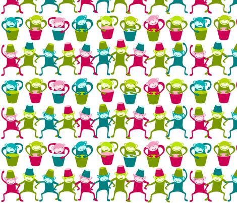 SteffFabrics Monkeys 01 fabric by steffstyle on Spoonflower - custom fabric