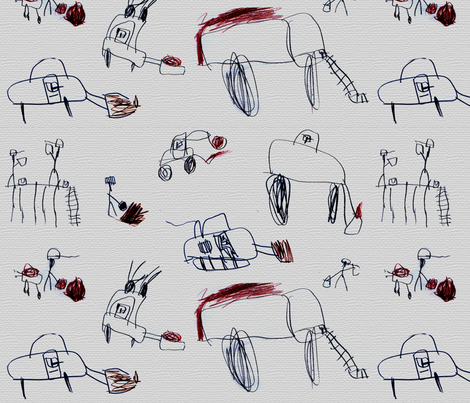 Construction work by Jimmy age 6 fabric by jimmy01 on Spoonflower - custom fabric