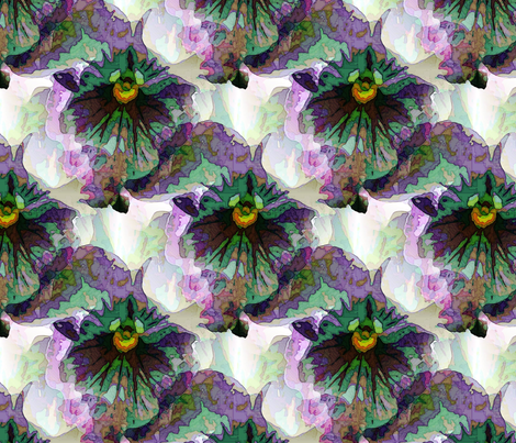 Watery violet fabric by vib on Spoonflower - custom fabric