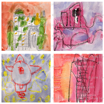 Little paintings by Alex age 5