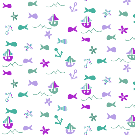 go sailing fabric by palmrowprints on Spoonflower - custom fabric