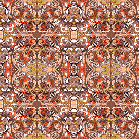 Vertibrate Evolution fabric by edsel2084 on Spoonflower - custom fabric