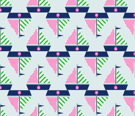 Sailboats fabric by illoberry on Spoonflower - custom fabric
