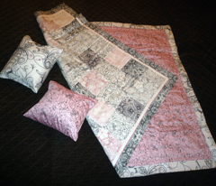 Vampires at Dusk and Floral Patchwork Baby Quilt