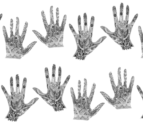 henna hands fabric by jaja on Spoonflower - custom fabric