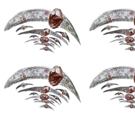 swirl bird family fabric by chameleonboy on Spoonflower - custom fabric