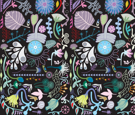 on-black fabric by junej on Spoonflower - custom fabric