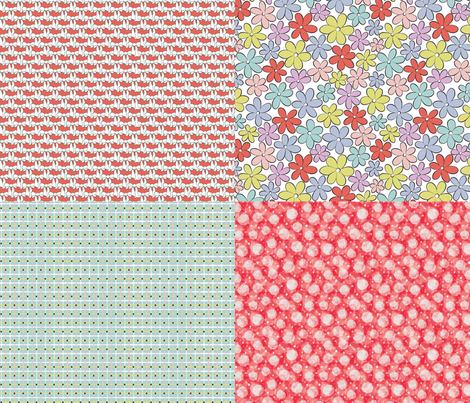 vintage bloom fabric by evita on Spoonflower - custom fabric