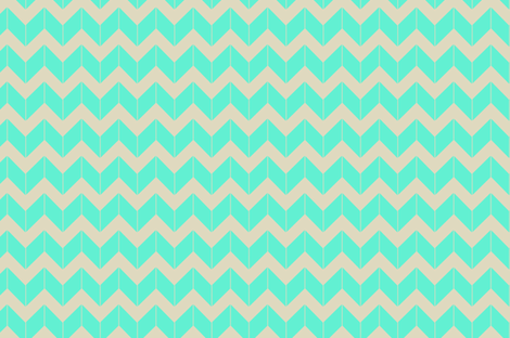 aqua dimensional chevron fabric by fleamarkettrixie on Spoonflower - custom fabric