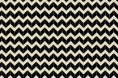 black dimensional chevron fabric by fleamarkettrixie on Spoonflower - custom fabric