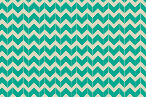 turquoise dimensional chevron fabric by fleamarkettrixie on Spoonflower - custom fabric