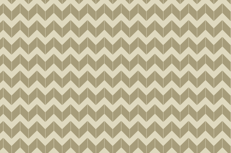khaki dimensional chevron fabric by fleamarkettrixie on Spoonflower - custom fabric