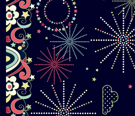 sparkly sparklers fabric by amel24 on Spoonflower - custom fabric