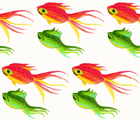 HAPPY FISHIES  fabric by garwooddesigns on Spoonflower - custom fabric
