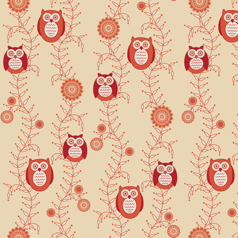 Retro Owls fabric by strive on Spoonflower - custom fabric