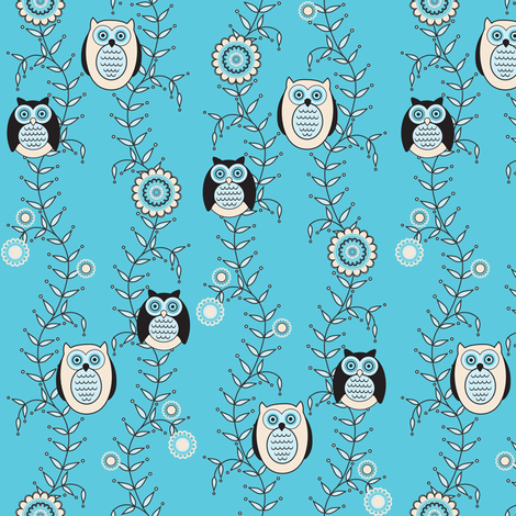 Winter Owls fabric by strive on Spoonflower - custom fabric