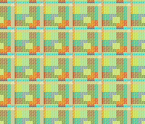 ©2011 Plaid Drops fabric by glimmericks on Spoonflower - custom fabric