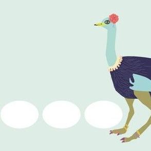 ornate ostrich
