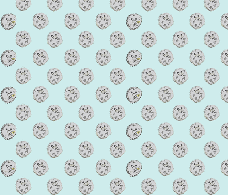 hedgehog-o-dots fabric by abbadabbadoo on Spoonflower - custom fabric