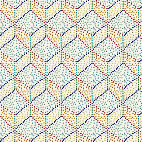 Small Egyptian palette dots fabric by su_g on Spoonflower - custom fabric