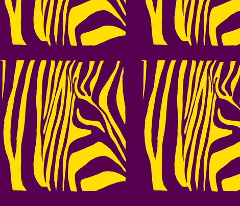 Pop Art Zebra fabric by blue_jacaranda on Spoonflower - custom fabric