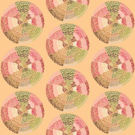 Dot circles on apricot by Su_G fabric by su_g on Spoonflower - custom fabric