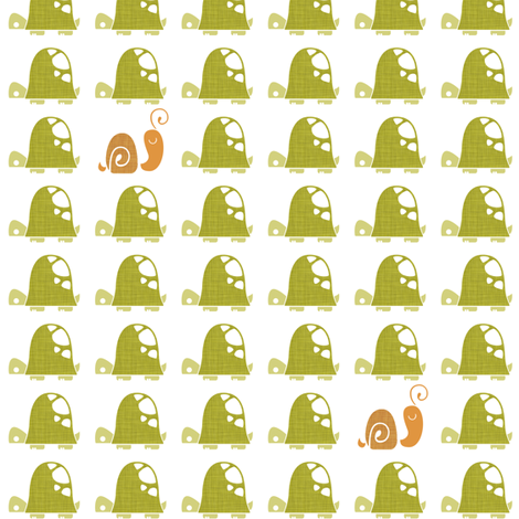 Moving At A Turtle's Pace fabric by ttoz on Spoonflower - custom fabric