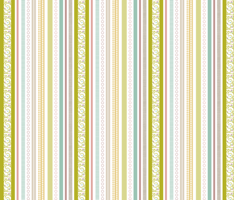 Spring Multi-Stripe - Vines fabric by ttoz on Spoonflower - custom fabric