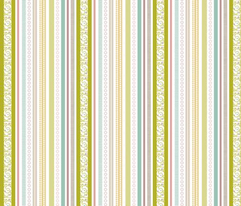 Spring Multi-Stripe - Vines fabric by ttoz on Spoonflower - custom fabric
