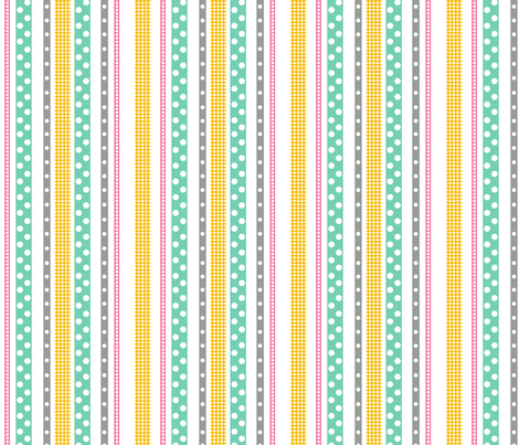 All these dots! in Green fabric by me-udesign on Spoonflower - custom fabric