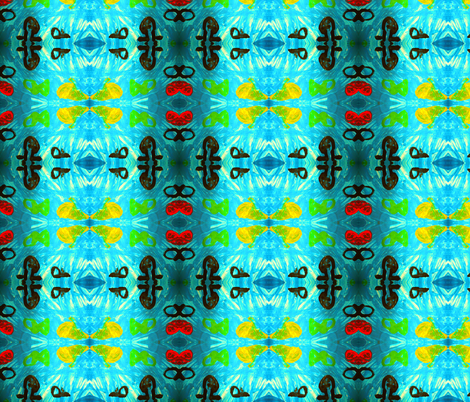 sea (by Renske 5 years old) fabric by tgsn on Spoonflower - custom fabric
