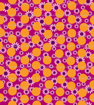 Orange Dots and Daisies