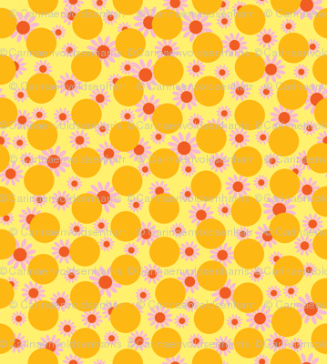 Yellow Dots and Daisies