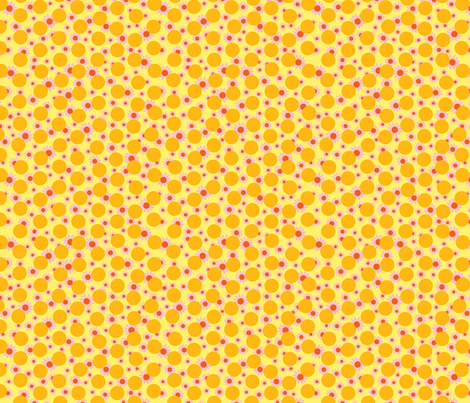 Yellow Dots and Daisies fabric by carinaenvoldsenharris on Spoonflower - custom fabric