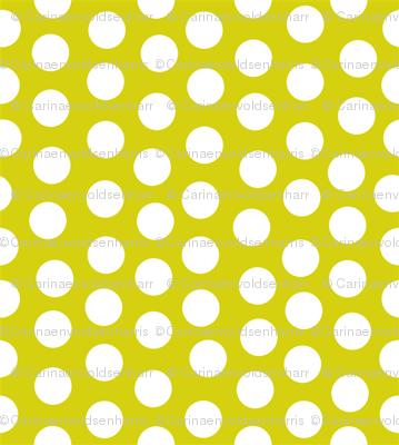 Mini Dots White Lime