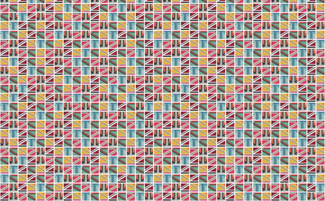 Postage Stamps fabric by nikiblack on Spoonflower - custom fabric