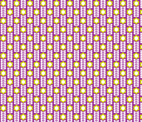 Single_Stem Purple fabric by aliceapple on Spoonflower - custom fabric