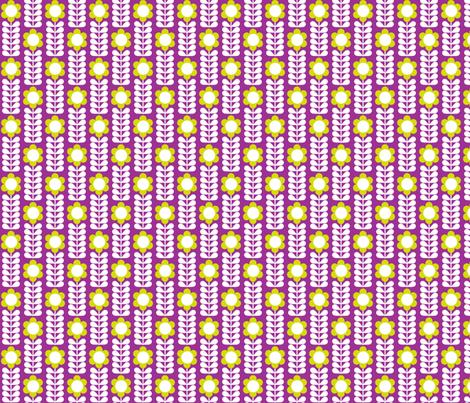 Single_Stem Purple fabric by aliceapple on Spoonflower - custom fabric