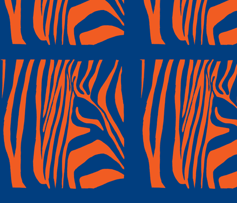 Pop Art Zebra 2 fabric by blue_jacaranda on Spoonflower - custom fabric