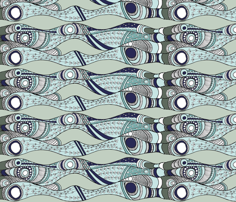 sea_weeds5 fabric by wiccked on Spoonflower - custom fabric