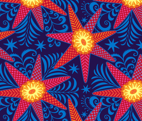 Firestar fabric by spellstone on Spoonflower - custom fabric