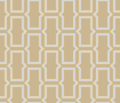 brick_pattern_greyish_orange fabric by ravynka on Spoonflower - custom fabric