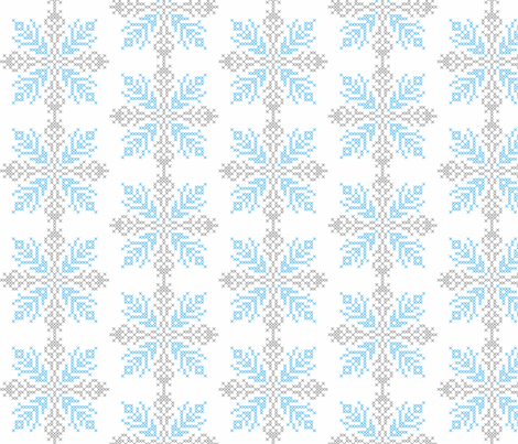 snowy fabric by renule on Spoonflower - custom fabric