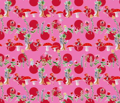 ribambelle_gros_pois_rouge fabric by nadja_petremand on Spoonflower - custom fabric