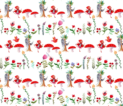 ribambelle_blanc_M fabric by nadja_petremand on Spoonflower - custom fabric