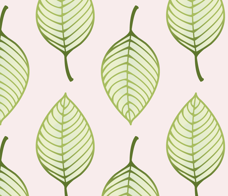 summer leaf fabric by littlerhodydesign on Spoonflower - custom fabric